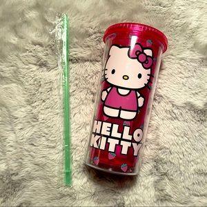 🍓 Hello Kitty Strawberry Acrylic Travel Tumbler